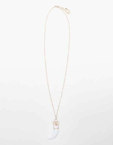 Need Supply Co White Horn Necklace