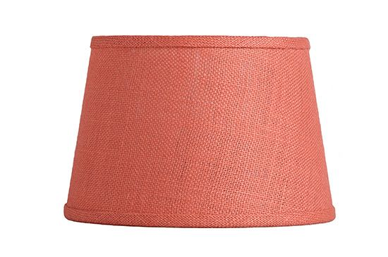 Cost Plus World Market Coral Burlap Accent Lamp Shade