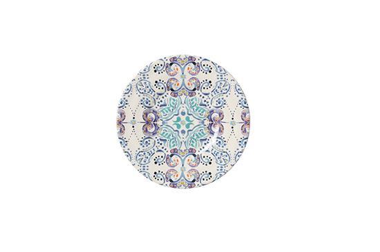 Anthropologie Swirled Symmetry Salad Plate