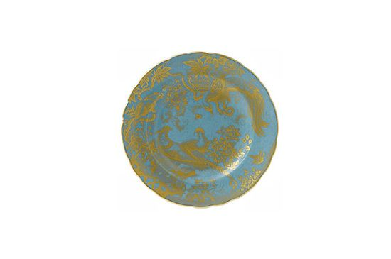 Michael C. Fina Gold Aves Accent Plate, Royal Crown Derby