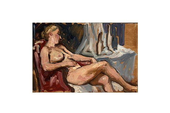 Etsy Female Nude Reclining by