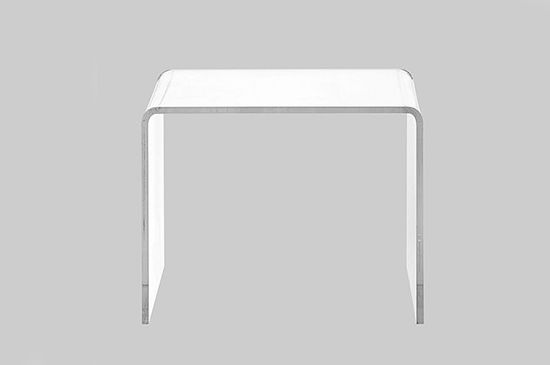 CB2 Peakaboo Clear Low Side Table