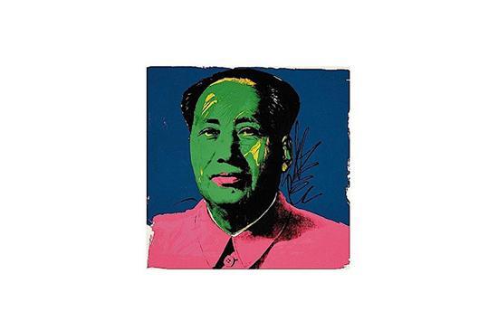 Art-Heist Andy Warhol Mao Print