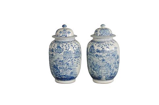Charlotte and Ivy Porcelain Bird Jars