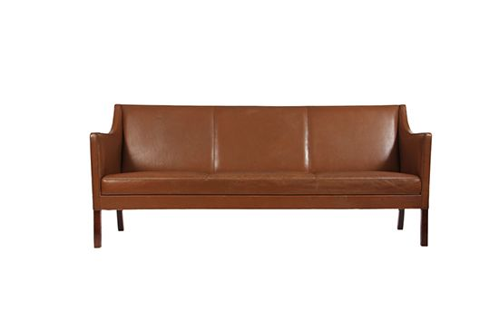 1st Dibs Leather Sofa by Ole Wanscher