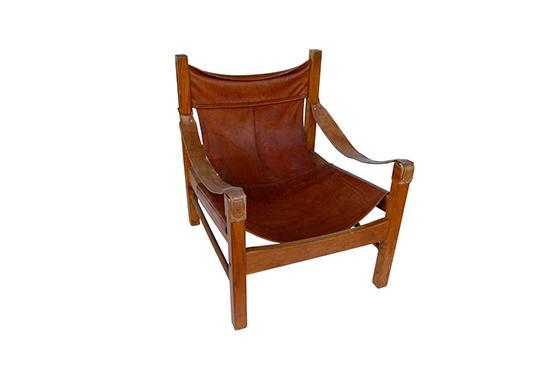 1st Dibs Leather Safari Chair