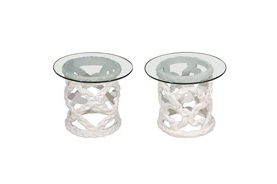 1stdibs Plaster Side Tables