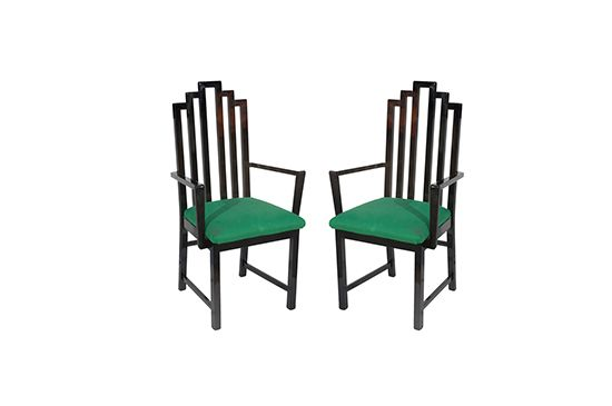 1stdibs Lacquer Arm Chairs