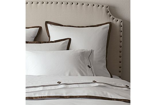 Serena and Lily Chocolate Border Duvet , From $180