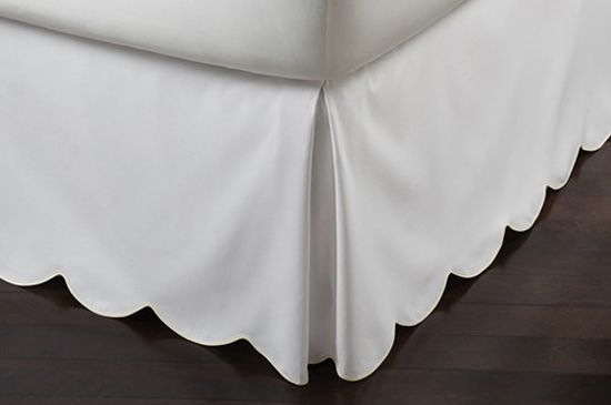 Peacock Alley Pique Scalloped Bedskirt, From $305