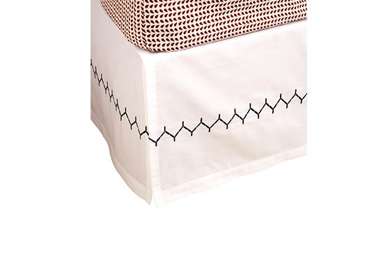 John Robshaw Stitched Ink Bedskirt, From $75