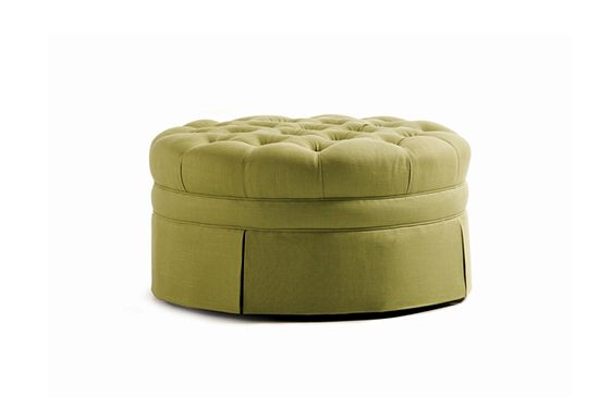 Inside Avenue  Round Tufted Ottoman, From $1150