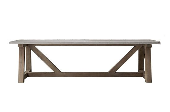 Restoration Hardware  French Beam Weathered Dining Table