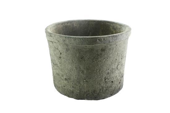 Greige Rustic Terra Cotta Pot