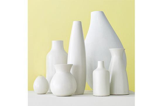 West Elm Pure White Ceramic Vases, From $10