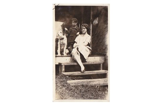 Ebay Vintage Boy, Mother & Dog Photo