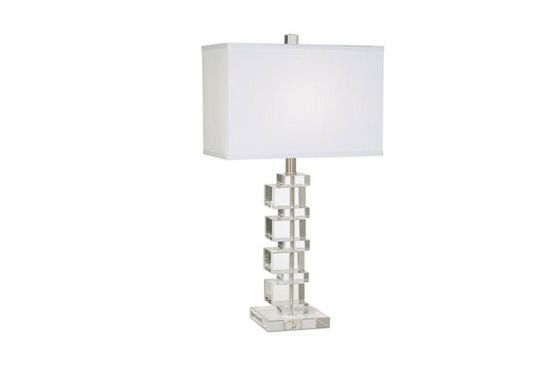 Lamps Plus Vienna Full Spectrum Crystal Cube Table Lamp
