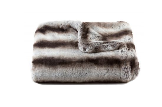 Tourance Chinchilla Faux Fur Throw
