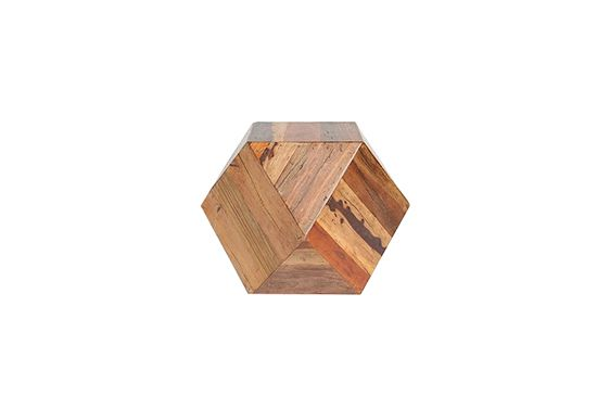 Urban Outfitters Faceted Wood Block Side Table