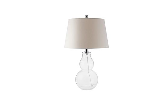 Williams Sonoma Glass Gourd Lamp