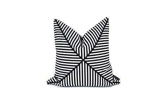 Etsy Striped Throw Pillow