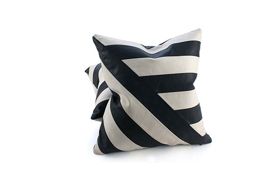 Pfeifer Studio Black and White Leather Pillow, From $199