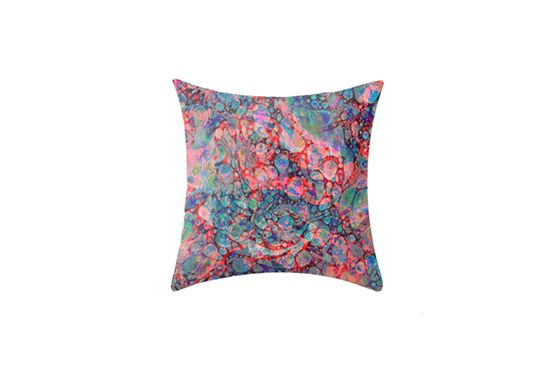 Society 6 Opalescent Marble Pillow