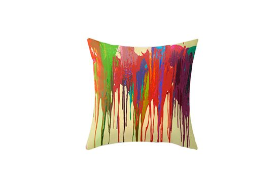 Etsy Funky Bright Drip Pillow