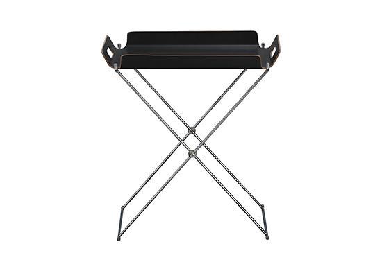 CB2 Formosa Black Tray Table