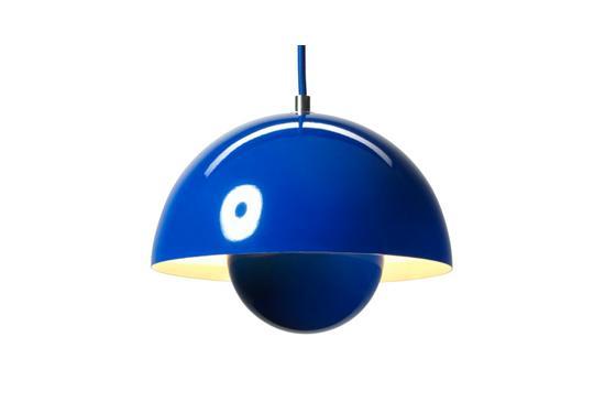 Nova68 Verner Flowerpot Blue Pendant Lamp