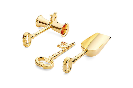 One Kings Lane Gold-Plated Key Bar Set