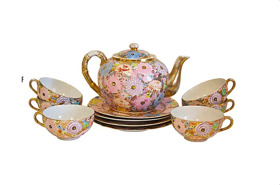 One Kings Lane Floral Tea Set