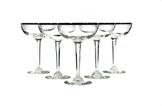 One Kings Lane Silver Rimmed Coupes