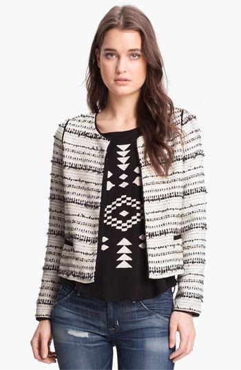 Willow & Clay  Metallic Thread Tweed Jacket