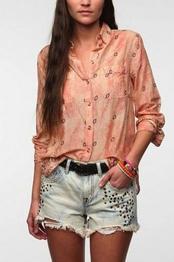 BDG Breezy Slub Button-Down Shirt