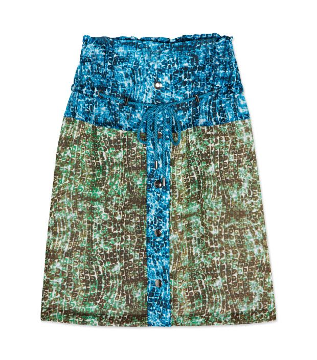 """<p><a href=""""http://rstyle.me/n/t69ach9e"""" target=""""_blank"""" title=""""Animal Colorblock Skirt"""">Animal Colorblock Skirt</a> ($54)</p>"""
