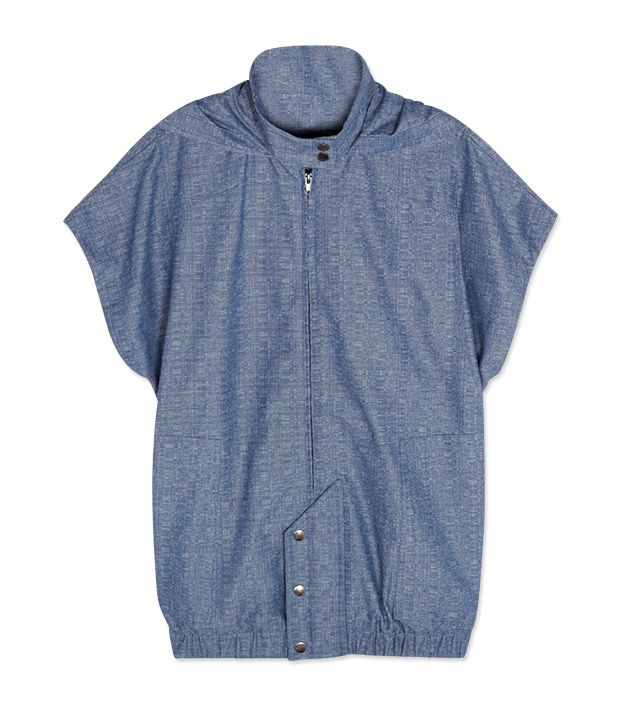 """<p><a href=""""http://rstyle.me/n/tzcpch9e"""" target=""""_blank"""" title=""""Chambray Jacket"""">Chambray Jacket</a> ($70)</p>"""
