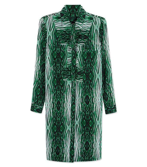 """<p><a href=""""http://rstyle.me/n/ty8ach9e"""" target=""""_blank"""" title=""""Striped Shirtdress"""">Striped Shirtdress</a> ($70) in Woodgrain Parrot</p>"""