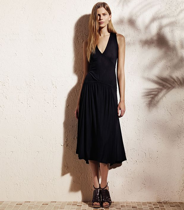 """<p><a href=""""http://rstyle.me/n/ty6bch9e"""" target=""""_blank"""" title=""""Solid Smocked Midi Dress """">Solid Smocked Midi Dress</a> ($60)</p>"""