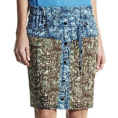 Derek Lam for DesigNation  Animal Colorblock Skirt