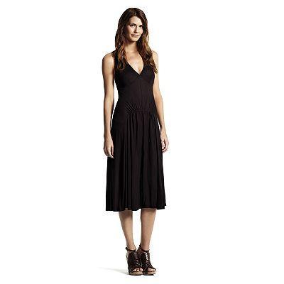 Derek Lam for DesigNation Solid Smocked Midi Dress