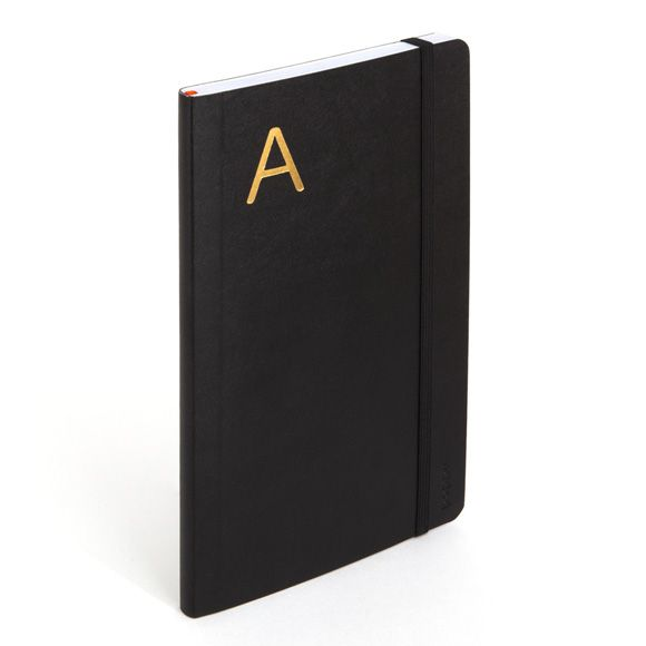 Poppin Medium Soft Cover Notebook with Gold Initial