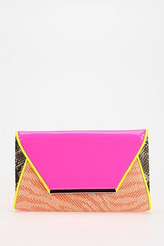 Deena & Ozzy  Mixed Media Raffia Clutch