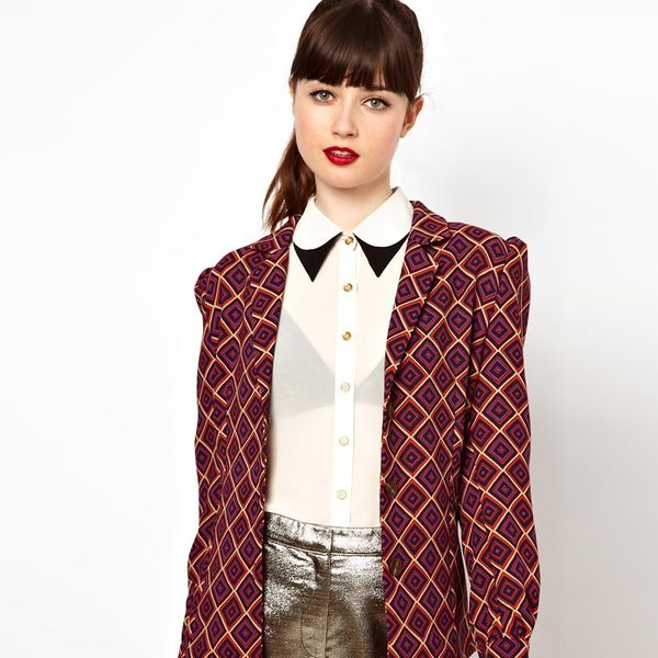 Sister Jane  Jacket in Geometric Print