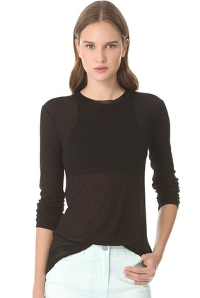 T by Alexander Wang  Rib Long Sleeve Tee