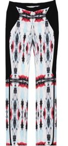 ICB  ICB Mirrored Ink Blot Print Tuxedo Pants