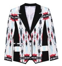 ICB  ICB Mirrored Ink Blot Print Tuxedo Jacket