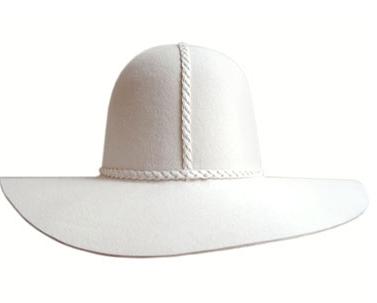 Mle Hagen  Undertaker Hat Blanc