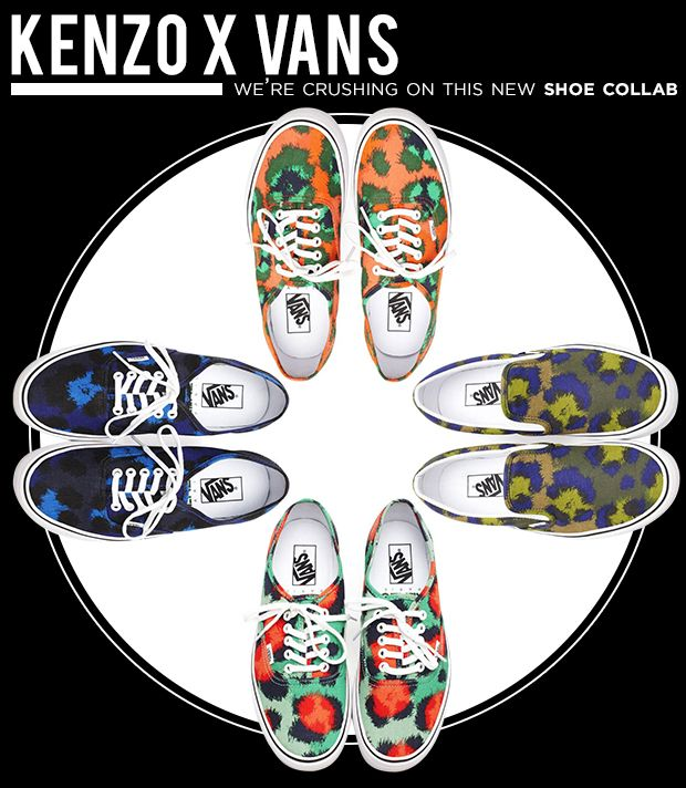Stylish Kicks From The Latest Kenzo x Vans Collaboration