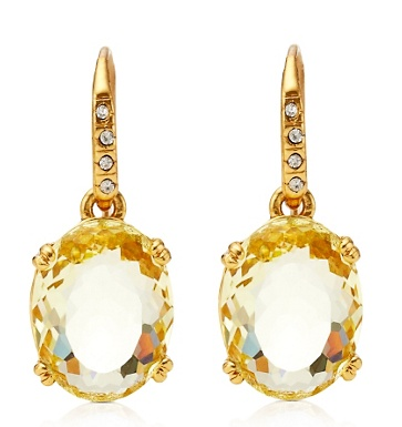 Juicy Couture Small Oval Drop Earrings